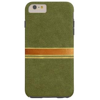 緑のスエードの銅および金ゴールドはiPhone6ケースにバンドを付けました Tough iPhone 6 Plus ケース