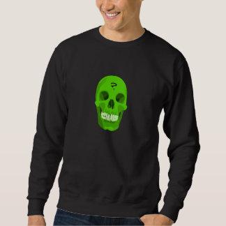 緑のスカルのスエットシャツ スウェットシャツ