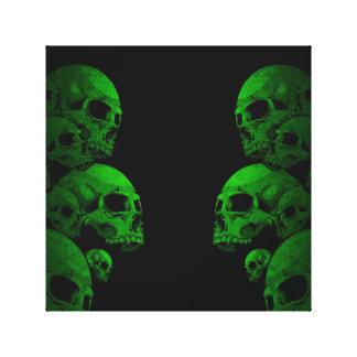 緑のスカル キャンバスプリント