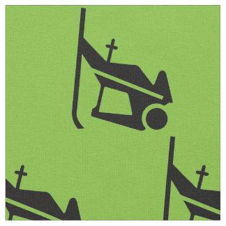 緑のスキーヤー ファブリック