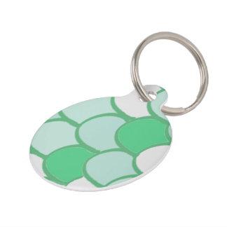 緑のスケールのペットタグ ペット 迷子札