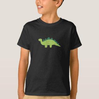 緑のステゴサウルスのワイシャツ Tシャツ
