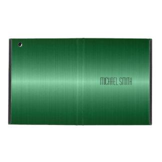 緑のステンレス鋼の金属 iPad ケース