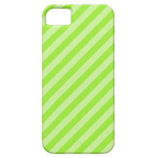 緑のストライブ柄パターン iPhone SE/5/5s ケース
