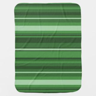 緑のストライブ柄 ベビー ブランケット