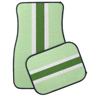 緑のストライプなカーマットのフルセット カーマット