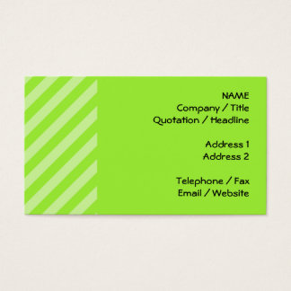 緑のストライプなパターン 名刺