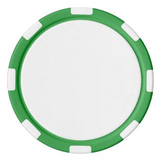 緑のストライプのな端が付いているポーカー用のチップ ポーカーチップ