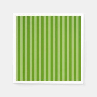 緑のストライプのクリスマスの紙ナプキン スタンダードカクテルナプキン