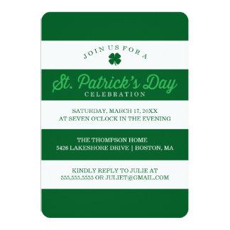 緑のストライプのセントパトリックの日 カード