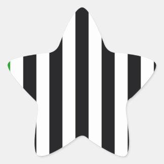 緑のストライプを使って 星シール