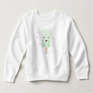 緑のスマイルのアイスキャンデー スウェットシャツ