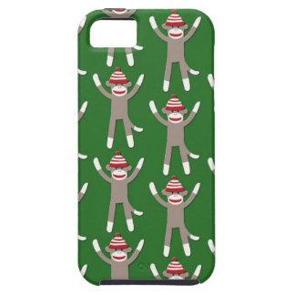 緑のソックス猿のプリント iPhone SE/5/5s ケース