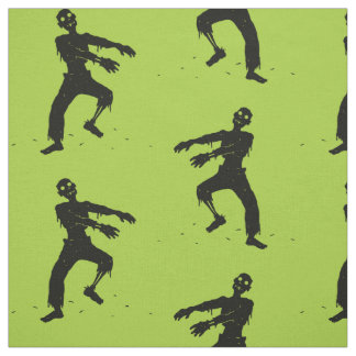 緑のゾンビパターン ファブリック