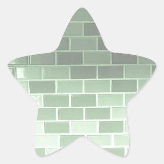 緑のタイルの写真撮影 星シール