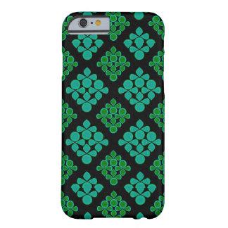 緑のターコイズはRhombパターンを去ります Barely There iPhone 6 ケース