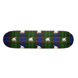 緑のタータンチェックのブルドッグ 21.6CM オールドスクールスケートボードデッキ