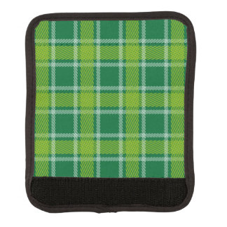 緑のタータンチェックのラゲージハンドルラップ ラゲッジ ハンドルラップ