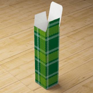 緑のタータンチェックのワイン用化粧箱 ワインギフトボックス