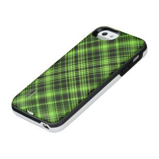 緑のタータンチェック iPhone SE/5/5sバッテリーケース