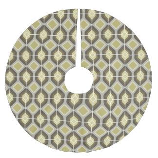 緑のダイヤモンド ブラッシュドポリエステルツリースカート