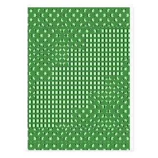 緑のダイヤモンドnのスクエアrectパターン。 低価格の店 ポストカード