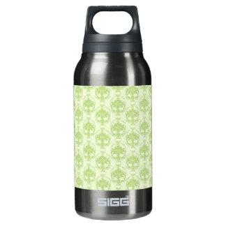 緑のダマスク織のかわいらしい緑 断熱ウォーターボトル