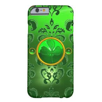 緑のダマスク織を持つパトリキウスの日のシャムロック BARELY THERE iPhone 6 ケース