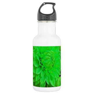 緑のダリアの束 ウォーターボトル
