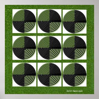 緑のチャクラ-インテリアの外面の装飾 ポスター
