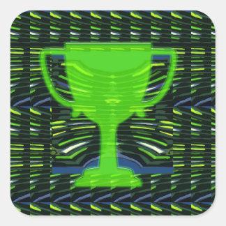 緑のチャンピオン賞のトロフィのコップの勝者の刺激 スクエアシール