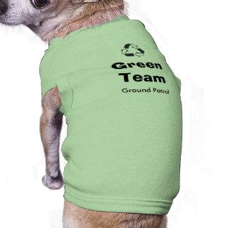 緑のチーム小犬 ペット服