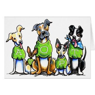 緑のティーが採用を考える避難所犬を採用して下さい カード