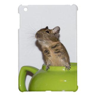 緑のティーポットのDegu iPad Miniケース