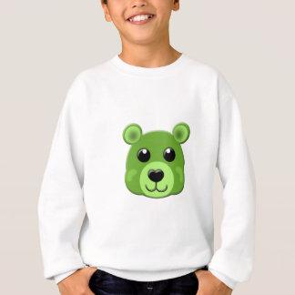緑のテディー・ベアの顔 スウェットシャツ