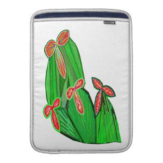緑のテーマ水色-サボテンのサボテン MacBook スリーブ