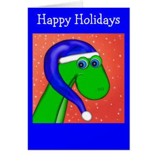 緑のディーノ、幸せな休日 カード