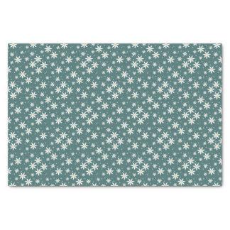 緑のデイジーのパターン(の模様が)あるなギフト用包装紙 薄葉紙