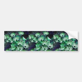 緑のデイジーの花のバンパーステッカー車の芸術 バンパーステッカー