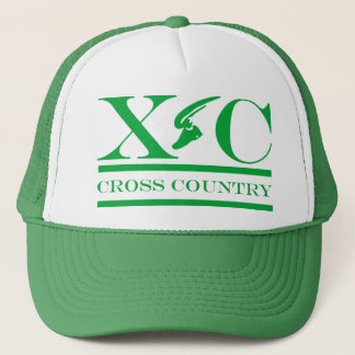 緑のデザインの帽子を走るクロス・カントリー キャップ