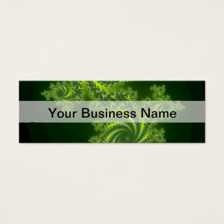 緑のデジタルフラクタルパターン スキニー名刺