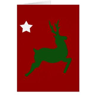 緑のトナカイ カード