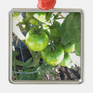 緑のトマト メタルオーナメント