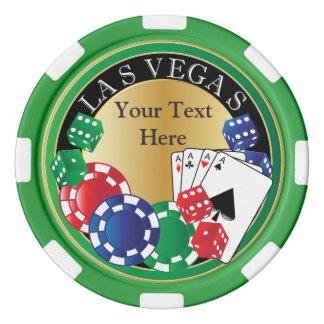 緑のトランプのポーカー夜を個人化して下さい ポーカーチップ