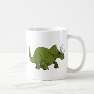 緑のトリケラトプスの恐竜 コーヒーマグカップ