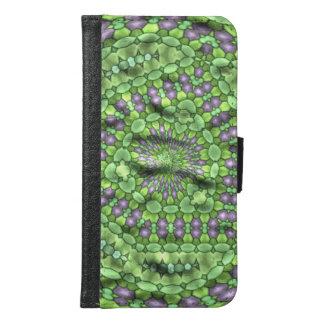 緑のトレンディーのカッコいいの芸術 GALAXY S6 ウォレットケース