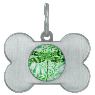 緑のトンボ ペットネームタグ