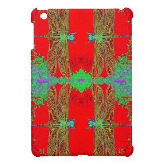 緑のトンボ、Sharles著中国ので赤いギフト iPad Miniケース