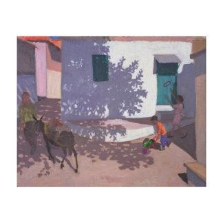 緑のドアおよび影Lesbos 1996年 キャンバスプリント