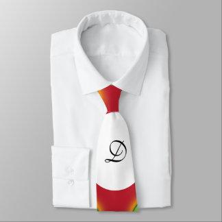 緑のドット・パターンのモノグラムのデザインのスタイリッシュなタイ ネクタイ